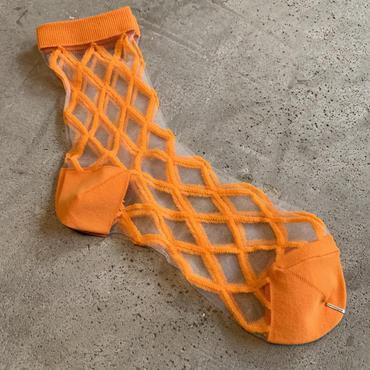 East End Highlanders (Transparent Mesh Socks)オレンジ