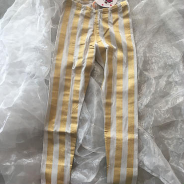 ZoZIO  stripe  leggings   GOLD  レディースsize