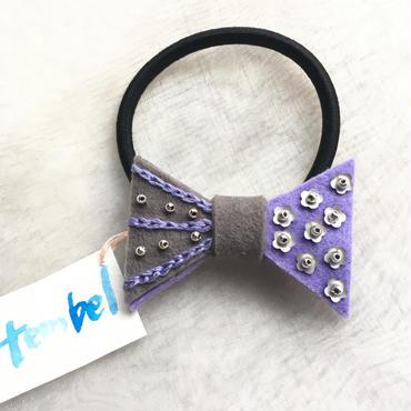 tembel リボンヘアゴム  purple