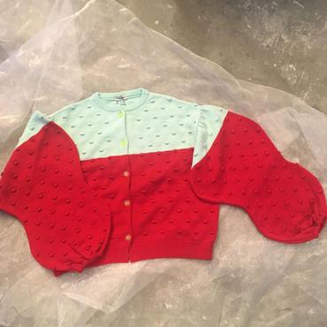 frankygrow  popcorn knit   cardigan