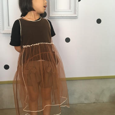 UNIONINI tulle apron dress  6-8y