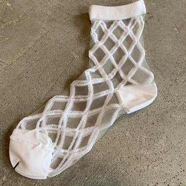 East End Highlanders (Transparent Mesh Socks)ホワイト