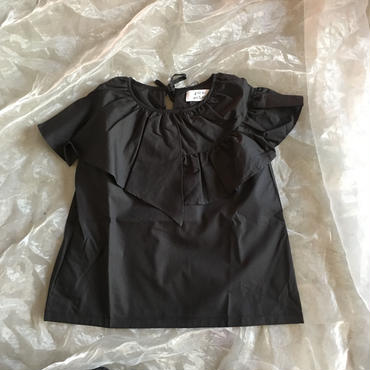 folk made  flare  blouse  ブラック  大人size