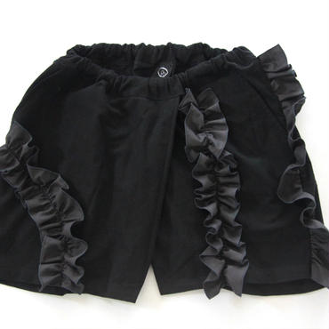 UNIONINIフリルショートパンツ ブラック
