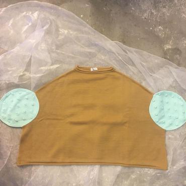frankygrow  circle popcorn knit tops