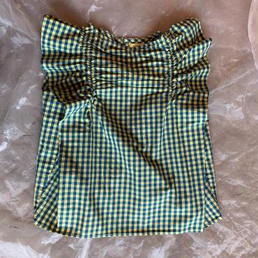 folk made  angel check  blouse