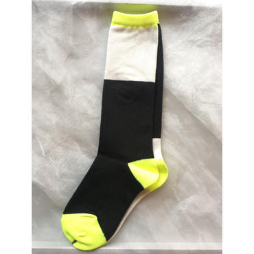 frankygrow  2tone asymmetric  socks