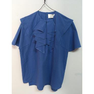 folk made  curl  blouse  blue