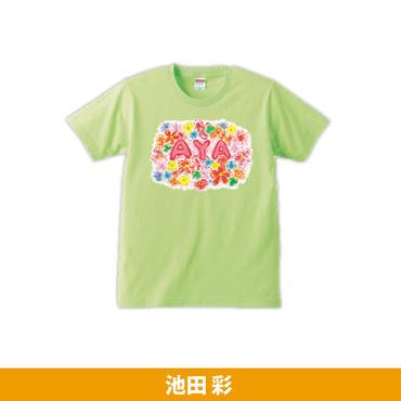 池田 彩 オリジナルTシャツ(ライムグリーン)