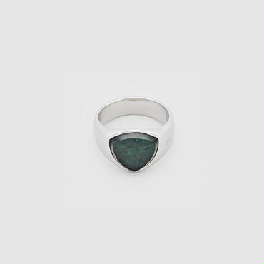 Shield Green Marble ring  /シールドグリーンマーブルリング