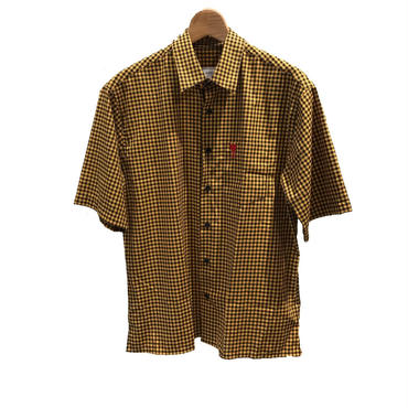 AMI Alexandre Mattiussi - Short Sleeve Shirt BL/YE
