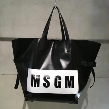 MSGM ロゴビニールバック