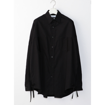 LOOSE SLIT SHIRT    BLACK