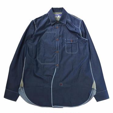 【在庫有・要問合せ】JUNYA WATANABE MAN COMME DES GARCONS 綿ツイル×綿チェックシャツ