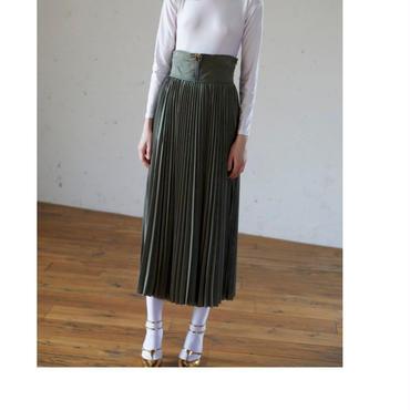 CLEANA ロングプリーツスカート