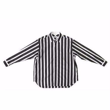 FACETASM ブロックストライプビックシャツ サイズ00 グレー