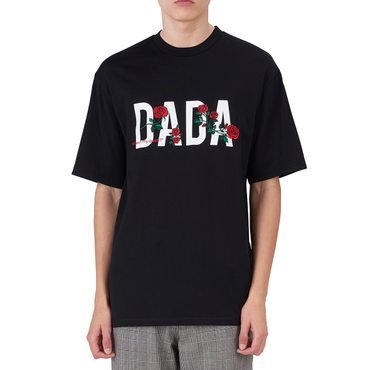 """DADA"" LOGO ROSE EMBROIDERED SIGNATURE T-SHIRT"