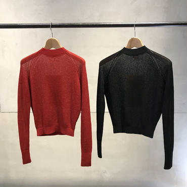 Maison Eureka - Rib High Neck Summer Sweater