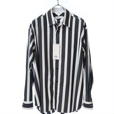 FACETASM ブロックストライプビックシャツ ブラック