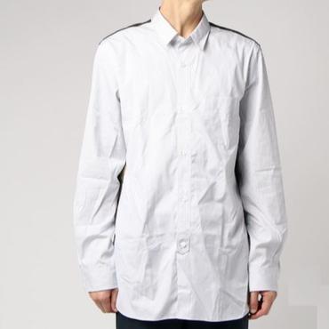 【在庫有・要問合せ】綿ストライプ×ナイロンリッププリントシャツ【CAMO】