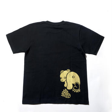 Tシャツ【ブラック・ゴールドプリント】
