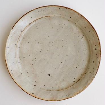粉引八寸リム皿