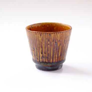 すずばなのmini cup 《飴釉しのぎ》
