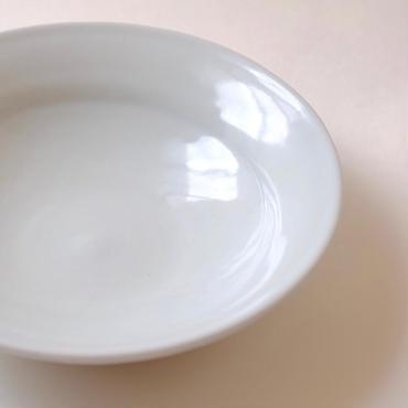 白釉6寸皿