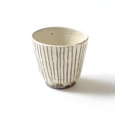 すずばなのmini cup《粉引十草マット調》