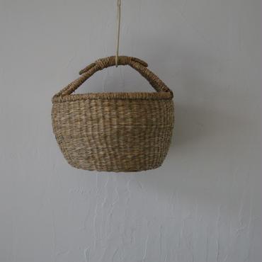 ベトナムのまるっこい手づくりかご handmade シーグラス ラウンド バスケットA  Sサイズ  AS-3