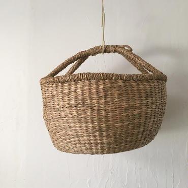ベトナムのまるっこい手づくりかご handmade シーグラス ラウンド バスケットA Lサイズ AL-15