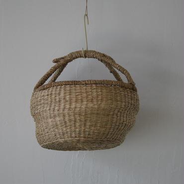 ベトナムのまるっこい手づくりかご handmade シーグラス ラウンド バスケットA Mサイズ AM-6