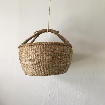 ベトナムのまるっこい手づくりかご handmade シーグラス ラウンド バスケットA Lサイズ AL-5