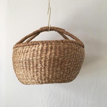 ベトナムのまるっこい手づくりかご handmade シーグラス ラウンド バスケットA Lサイズ AL-11