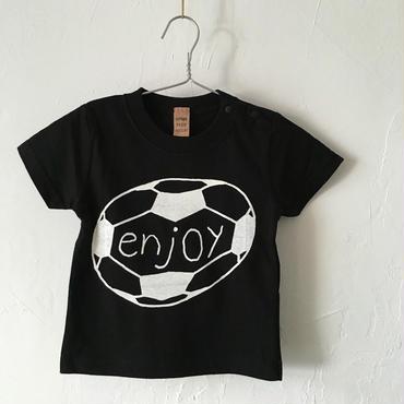 ▲送料無料 80サイズ/半そで uyoga enjoy soccer TシャツB 5.6oz ブラック