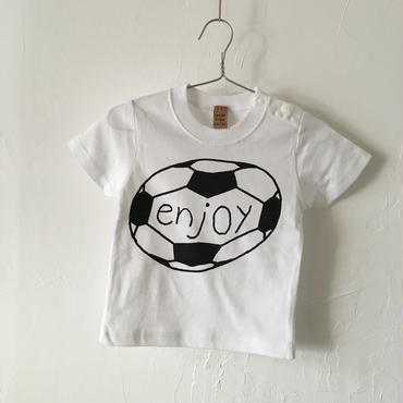 ▲送料無料 80サイズ/半そで uyoga enjoy soccer TシャツB 5.6oz ホワイト