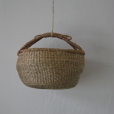 ベトナムのまるっこい手づくりかご handmade シーグラス ラウンド バスケットA Mサイズ AM-5
