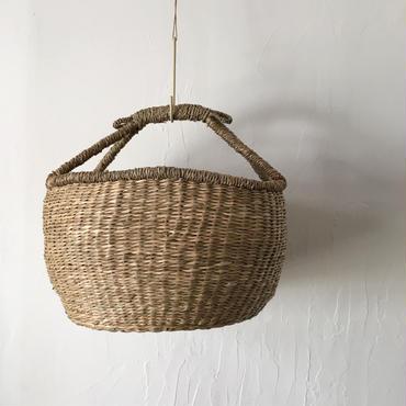 ベトナムのまるっこい手づくりかご handmade シーグラス ラウンド バスケットA Lサイズ AL-9