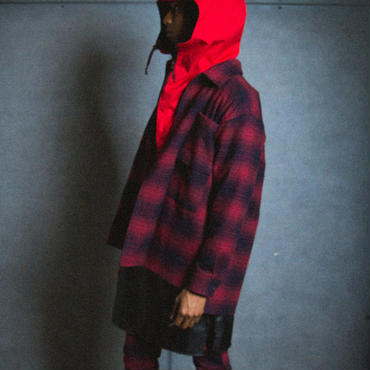 NEL CHECK SHIRT / red