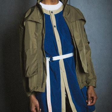 FLEECE LONG JK / blue