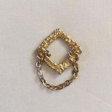 Meteor to glitter chain ring