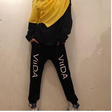 ViiDA ベロアパンツ(black)