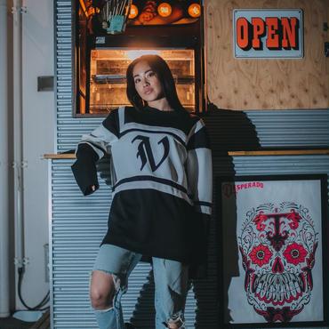 Vフッドシャツ(black)