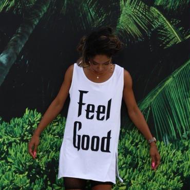 Feel Good ロングタンク (white)