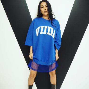 ViiDA裾メッシュTee(blue)