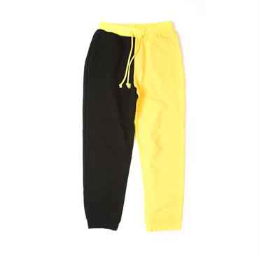 バイカラースウェットパンツ(black&yellow )