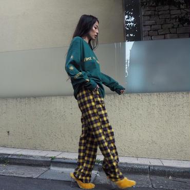 ViiDAチェックパンツ(yellow)
