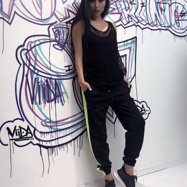 NEON LINE PANTS(black)