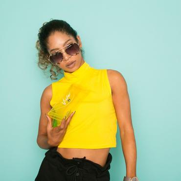 クリアウェストBag(yellow)