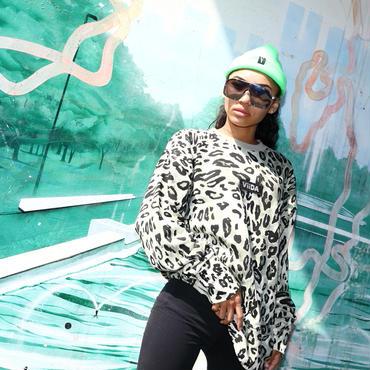 ViiDA  leopard sweat(green)